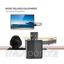 USB адаптер Bluetooth 5,0 аудио передатчик \ приемник 3,5 мм кабель для ТВ ПК, фото 2