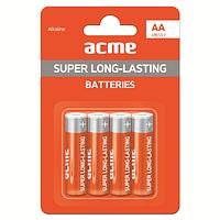 Батарейка алкалиновая ACME LR6 Alkaline Batteries AA/4pcs
