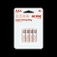 Батарейка алкалиновая ACME R03P Super Heavy Duty Batteries AAA/4pcs