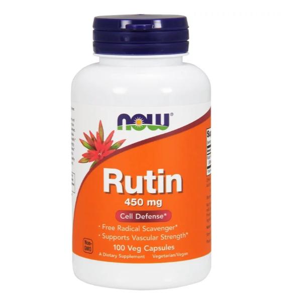 Now Foods, Рутин, 450 мг, 100 растительных капсул