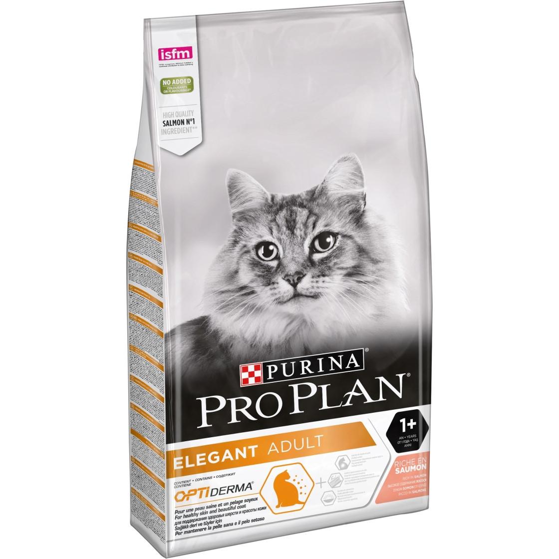 Сухой корм для кошек с чувствительной кожей ПроПлан с лососем
