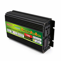 Инвертор преобразователь 12 220 SMART 1000 Вт с функцией зарядки и UPS
