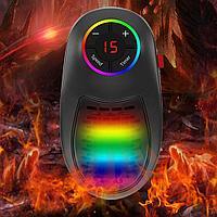 Обогреватель портативный в розетку 1000 вт, LED 7 цветов, пульт, таймер Тепловентилятор комнатный HANDY HEATER, фото 1