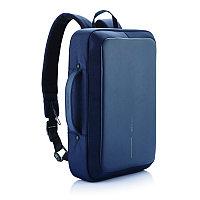 Сумка-рюкзак Bobby Bizz с защитой от карманников, синий, синий; черный, Длина 28 см., ширина 10 см., высота 41