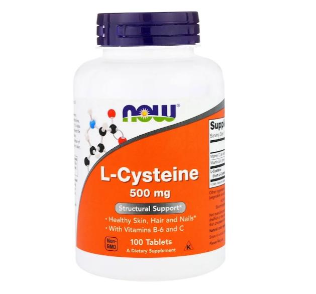Now Foods, L-цистеин, 500 мг, 100 таблеток