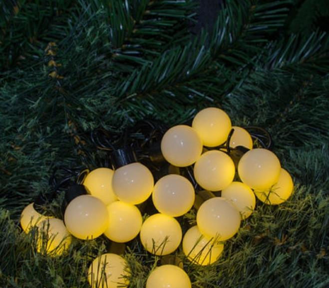 Гирлянда новогодняя, светодиодная нить в виде шариков 10 метров