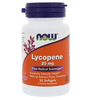 Now Foods, Ликопин, 20 мг, 50 мягких таблеток
