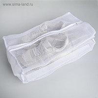 Мешок для стирки спортивной обуви, 32×3,5 см, цвет белый