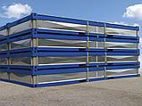 Металлический каркас разборного модульного здания с готовыми полами, крышей, потолком и электропроводкой., фото 4