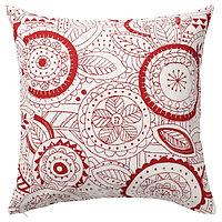 Чехол на подушку ВИНТЕР 2019 красный, 50x50 см ИКЕА, IKEA, фото 1