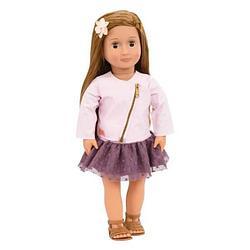 Our Generation Кукла Виена 46 см в розовой кожаной куртке