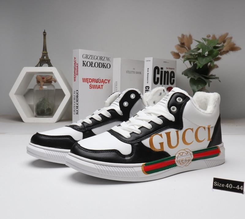Зимние кроссовки Gucci ( мех ) Black\White