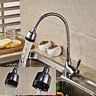 Однорычажный смеситель для кухни (гибкий гусак), фото 3