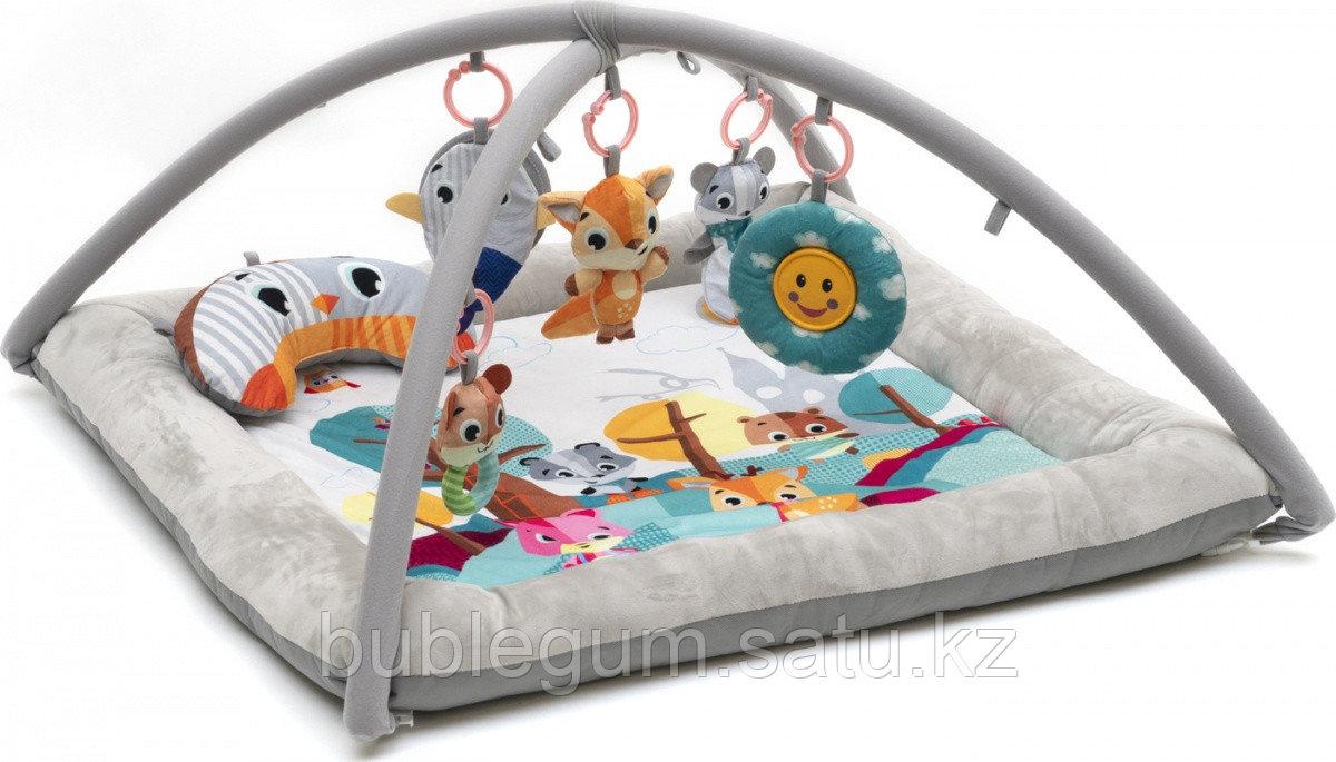 Развивающий коврик для новорожденного Funkids «Comfy Delux Gym» с мягкими бортиками (розовый)