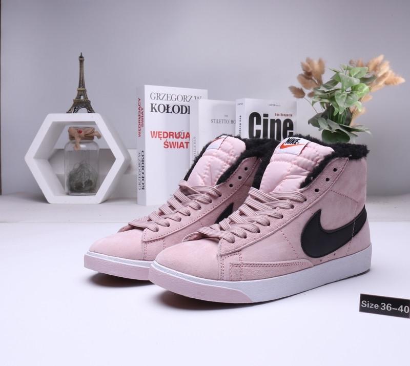 Женские зимние кеды Nike SB Zoom Blazer с мехом (36-40)