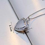"""Медальон на цепочке """"Розовое сердце"""", фото 5"""