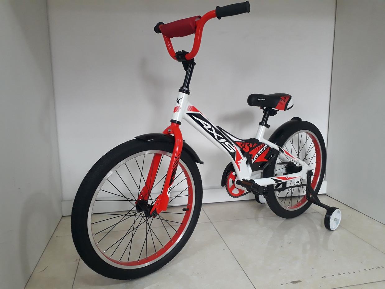 Велосипед AXIS KIDS 20, Алюминиевая рама с дополнительными колесиками.