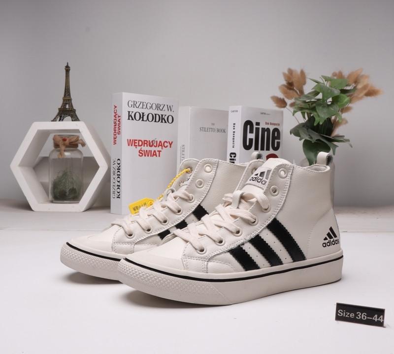 Зимние кроссовки Adidas ( 36-44)  Мех+Кожа