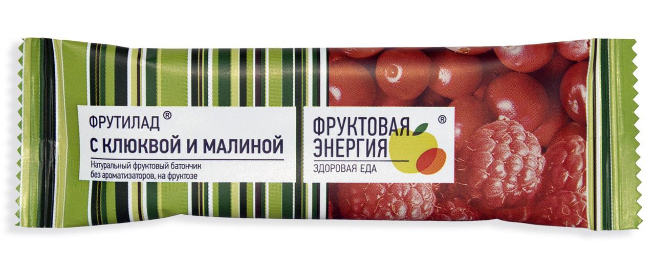 Батончик фруктовый с клюквой и малиной