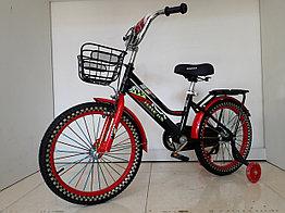 """Детский велосипед Hawks 18"""". С дополнительными колесами"""