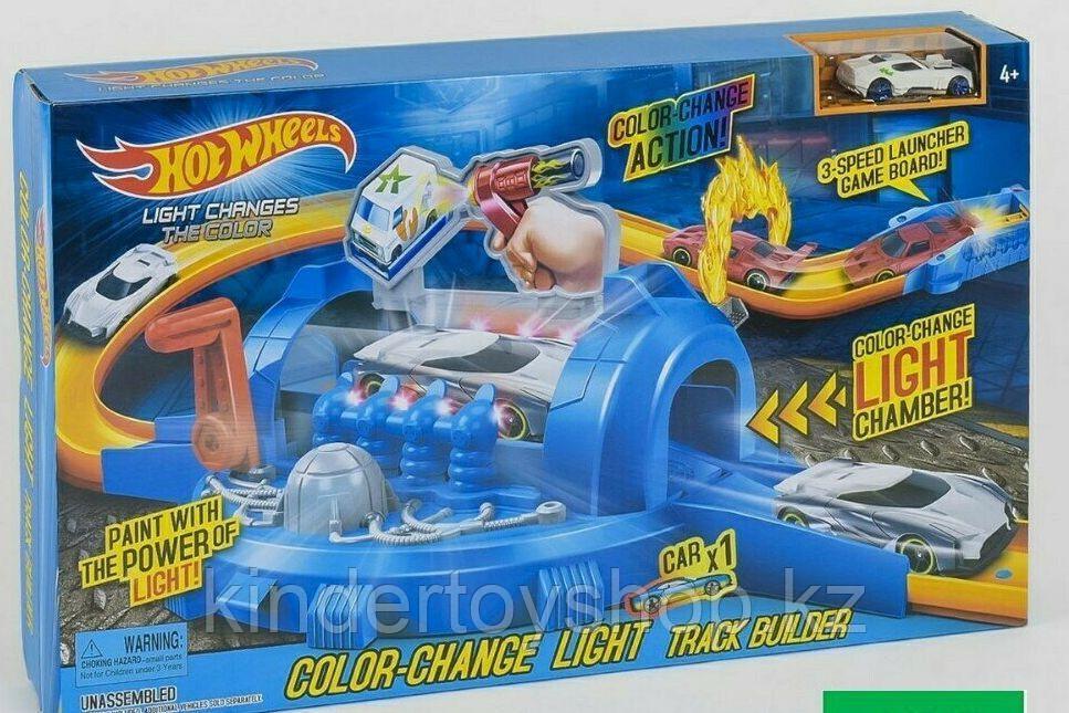 Авто трек Hot Wheels 7904 Трек-Запуск «хот вилс» со светом меняет цвет