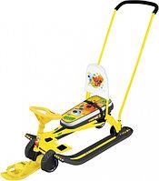 Снегокат Тимка спорт 6 Ми-ми-мишки на желтом с механизмом выдвижных шасси