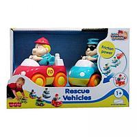 221G Спасательные машинки : пожарная+скорая помощь, Hap-p-Kid