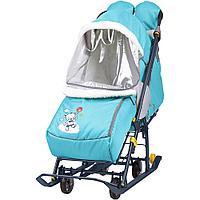 Санки - коляска комбинированная Ника Наши детки 2 НДТ2 медвежонок, фото 1