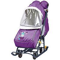 Санки - коляска комбинированная Ника Наши детки 2 НДТ2 жирафик, фото 1