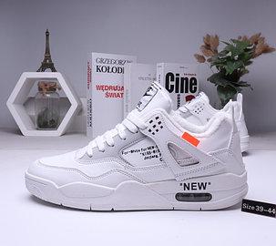 Зимние кроссовки Nike Air Jordan 4 Off White с мехом (39-44 ), фото 2