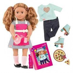 Our Generation DELUXE Кукла Иса готовит обед с книгой