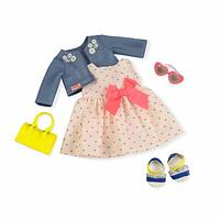 Our Generation Deluxe Набор одежды для кукол Платье с сердечками и жакетом