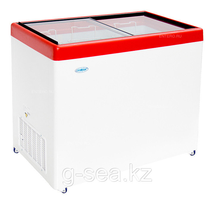 Морозильный ларь Снеж МЛП-350, красный глянец