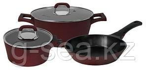 Набор посуды Polaris Burgundy-06S лит.ал 6 предм., бордовый