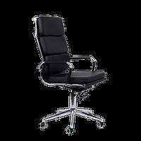 Кресло персонала K-104, черная кожа (Ch-750)