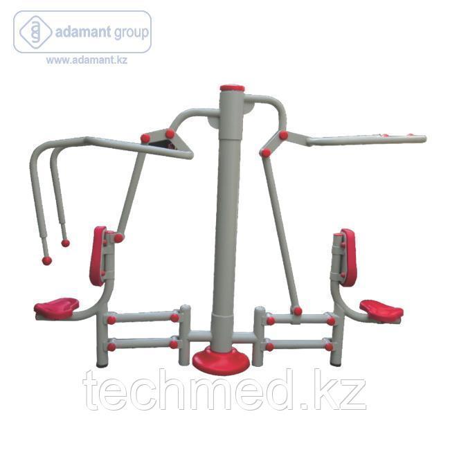 2-х позиционный тренажер тяга сверху и жим от груди 2