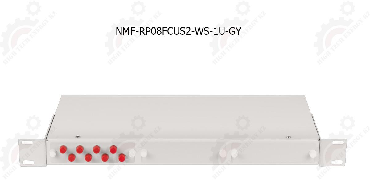 """Оптический кросс 19"""", 1U, укомплектованный на 8 портов FC/UPC"""