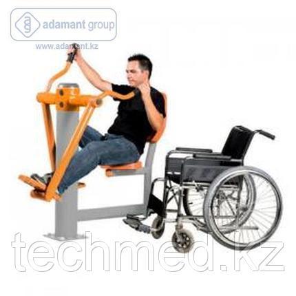 Уличный тренажер для инвалидов Лыжник, фото 2