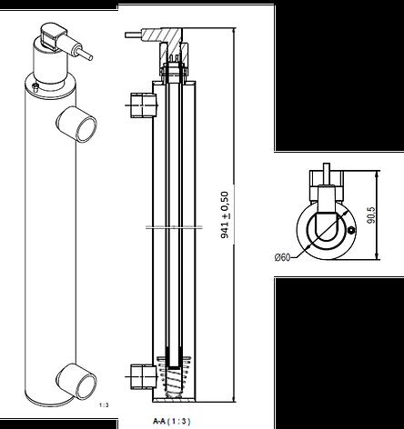УФ установка обеззараживания воды Aqualine E -505 PRO ( произв-ть 5 м3/час), фото 2