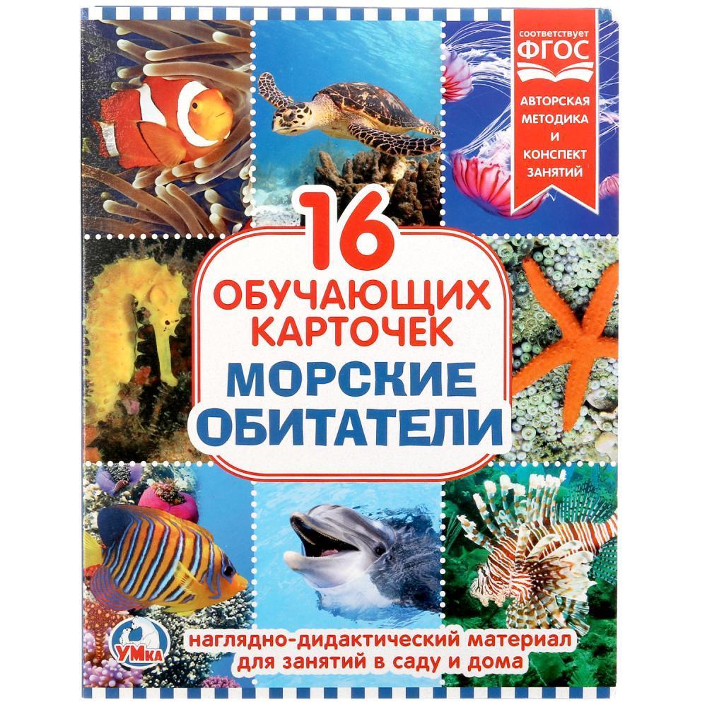 """Умка Наглядно-дидактический материал - 16 развивающих карточек """"Морские обитатели"""""""