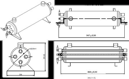 УФ установка обеззараживания воды Aqualine E -120 PRO ( произв-ть 20 м3/час), фото 2