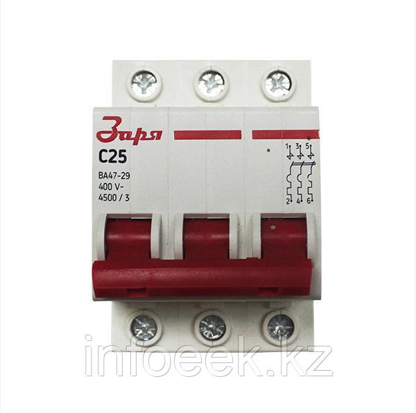 Автоматический выключатель 3Р - 25А