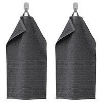 Полотенце ВОГШЁН темно-серый 30х50 ИКЕА, IKEA