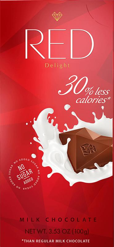 "Молочный шоколад со сниженной калорийностью, ""RED Delight"", 100 г"