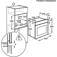 Встраиваемый духовой шкаф Electrolux OEF5C50V, фото 5