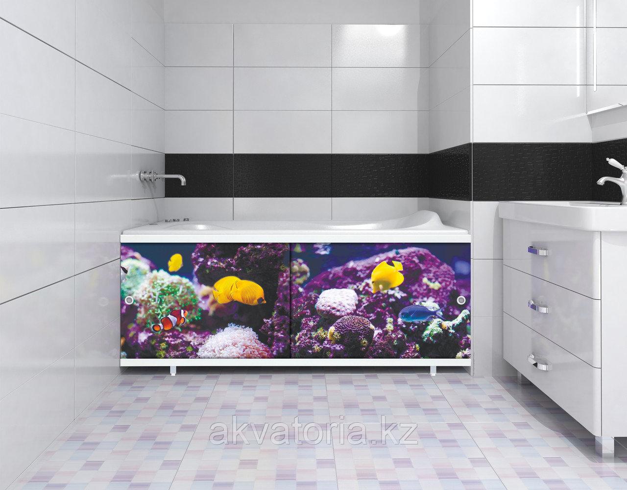 """Экран 1,68  """"УЛЬТРА ЛЕГКИЙ"""" АРТ подводный мир"""