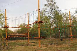 Детский спортивный комплекс Веревочные парки на опорах