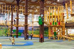 Детский спортивный комплекс Веревочные парки и городки в ТРЦ, помещениях