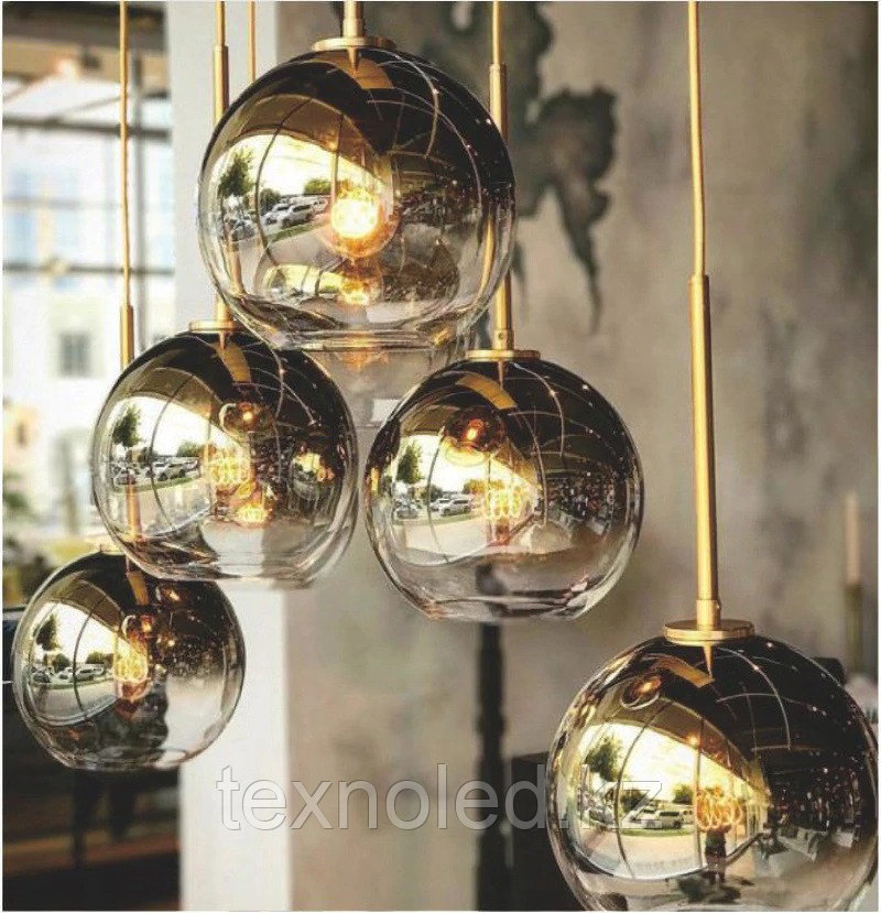 Люстра Gradient Color Glass Ball Chandelier