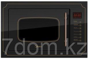 Встраиваемая ретро СВЧ Midea  MI 9251 RGB-B Черный, фото 2